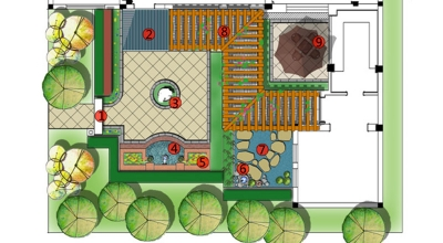 龙湖九墅庭院景观设计